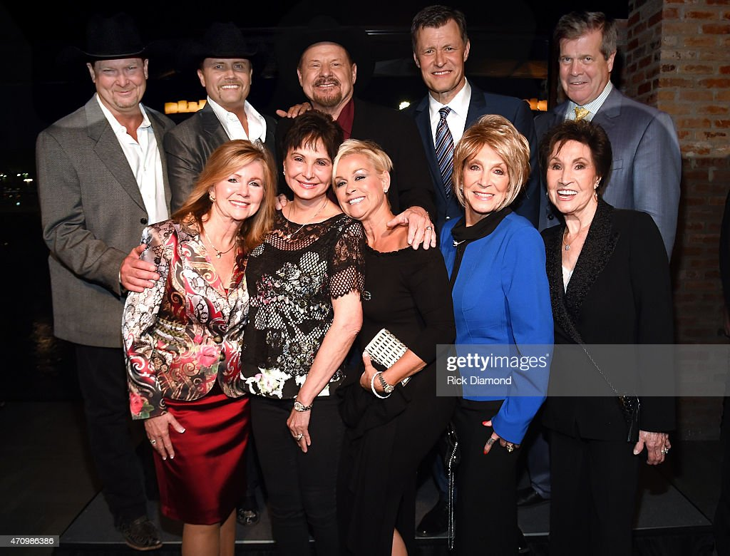 Recording Artists Tracy Lawrence, John Rich (Big and Rich) Moe Bandy, WSM 650AM's Bill Cody, Nashville Mayor Karl Dean. Front Row: U.S Congresswomen Marsha Blackburn, Nancy Jones (George Jones widow), Recording Artists Lorrie Morgan, Jeannie Seely and Jan Howard attend Recording Artist and Legend George Jones Museum Grand Opening on April 23, 2015 in Nashville, Tennessee.