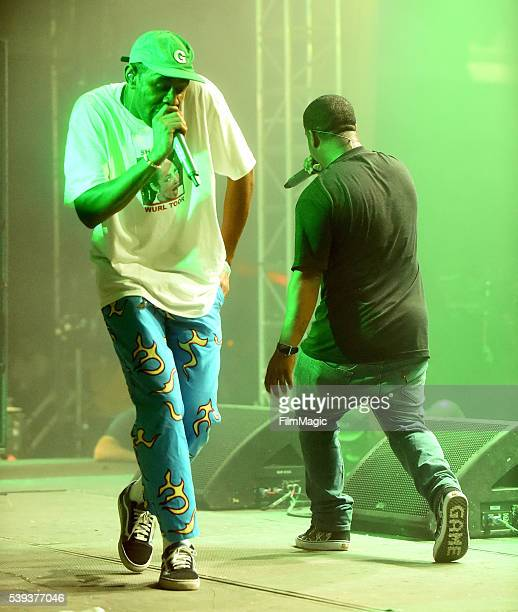 Recording artists Tyler The Creator and Jasper Dolphin of Odd Future perform onstage at This Tent during Day 2 of the 2016 Bonnaroo Arts And Music...