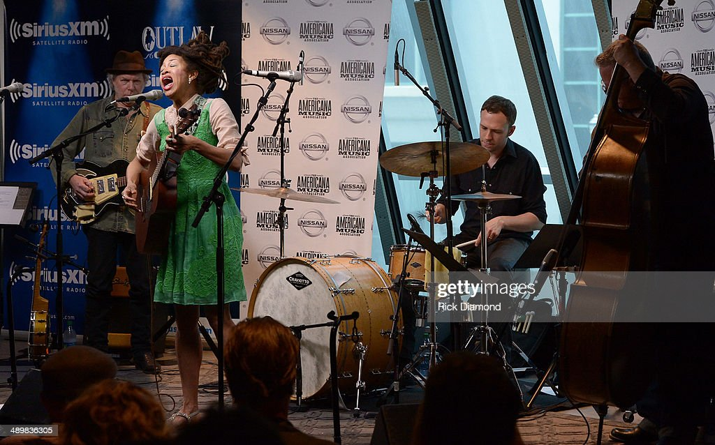 Recording Artists Valerie June performs at the Americana