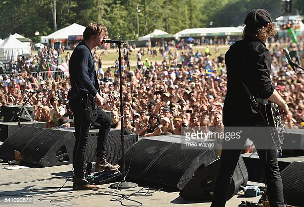 Recording artists Van McCann and Johnny Bond of Catfish and the Bottlemen perform onstage at Firefly Music Festival on June 18 2016 in Dover Delaware