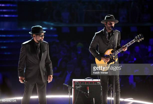 Recording artists William Bell and Gary Clark Jr perform onstage during The 59th GRAMMY Awards at STAPLES Center on February 12 2017 in Los Angeles...
