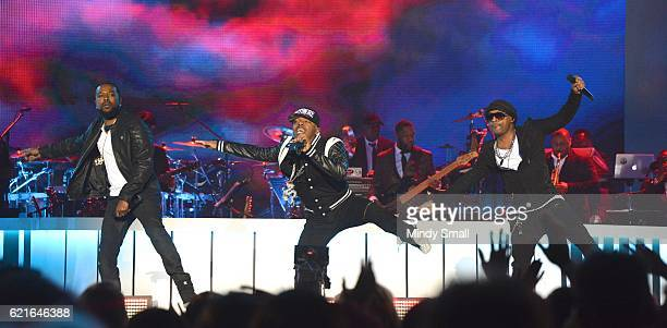Recording artists Woody Rock Sisqo and Nokio the NTity perform onstage during the 2016 Soul Train Music Awards at the Orleans Arena on November 6...