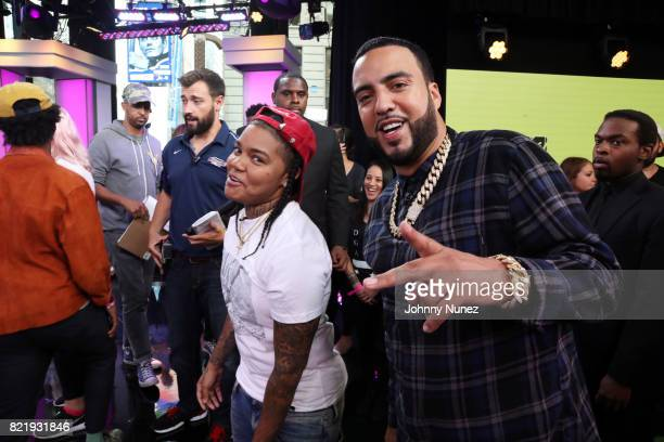 Recording artists Young MA and French Montana attend MTV Summer In The City at MTV Studios on July 24 2017 in New York City