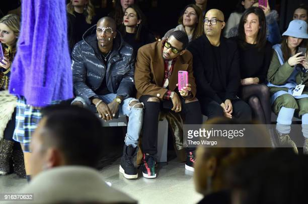 Recording artists Young Paris and Fabolous attend the Matthew Adams Dolan front row during New York Fashion Week Presented by Made at Gallery II at...