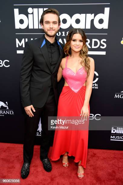 Recording artists Zedd and Maren Morris attend the 2018 Billboard Music Awards at MGM Grand Garden Arena on May 20 2018 in Las Vegas Nevada