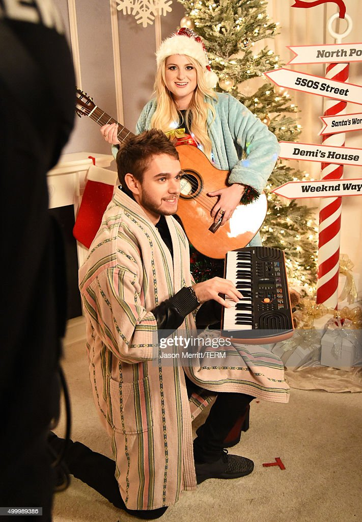 Recording artists Zedd (L) and Meghan Trainor attend 102.7 KIIS FM's Jingle Ball 2015 Presented by Capital One at STAPLES CENTER on December 4, 2015 in Los Angeles, California.