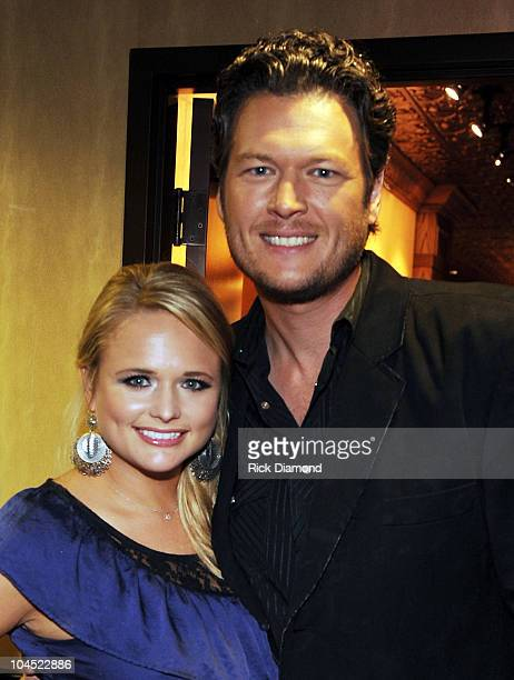 Recording Artist/Soon to be Married Miranda Lambert and Blake Shelton backstage during Country Comes Home An Opry Celebration at the Grand Ole Opry...