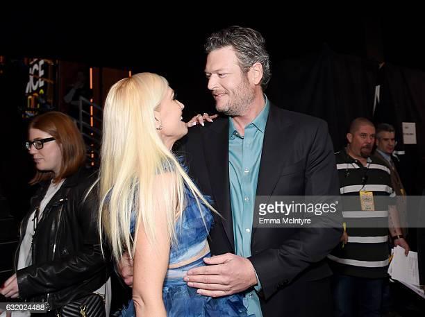 Recording artist/TV personality Gwen Stefani and recording artist/TV personality Blake Shelton winner of the Favorite Album award for 'If I'm Honest'...