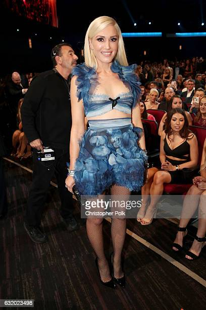 Recording artist/TV personality Gwen Stefani attends the People's Choice Awards 2017 at Microsoft Theater on January 18 2017 in Los Angeles California