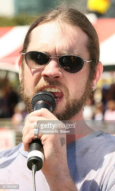 Recording artsit Bo Bice performs during the Toyota Grand Prix of Long Beach on April 9 2006 in Long Beach California
