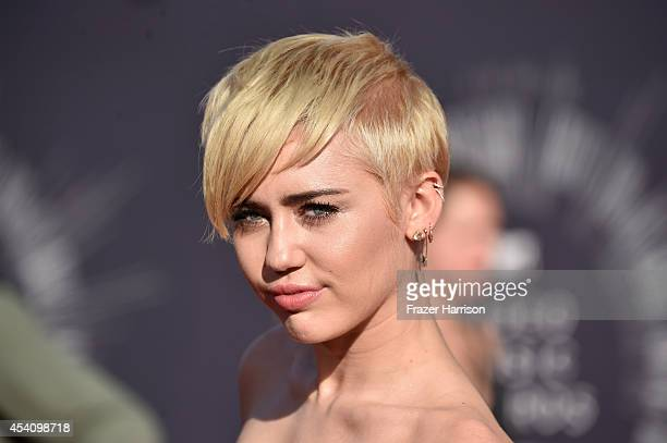 Recording atist Miley Cyrus attends the 2014 MTV Video Music Awards at The Forum on August 24 2014 in Inglewood California