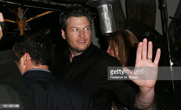 Recording Blake Shelton attends Warner Music Group's 2013 Grammy Celebration at Chateau Marmont's Bar Marmont on February 10 2013 in Hollywood...