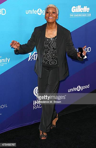 Recording Dionne Warwick attends united4 good and Variety Magazine Present united4humanity at Sony Pictures Studios on February 27 2014 in Culver...