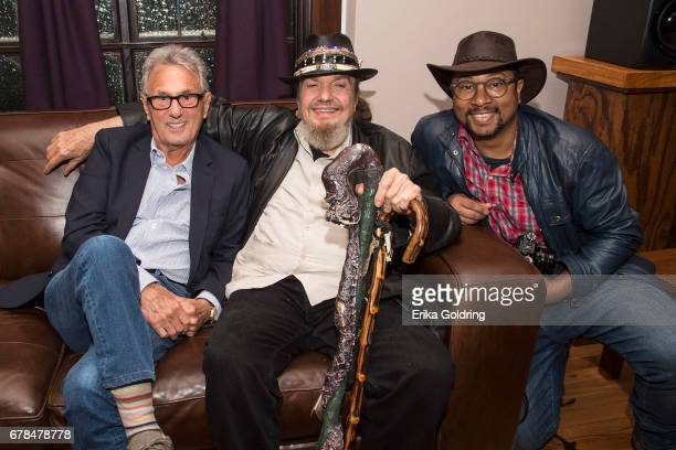 Recording engineer and producer Al Schmitt musician Mac Rebennack aka Dr John and bassist Roland Guerin pose for a photo during the GRAMMY Pro Summit...
