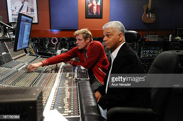 Recording engineer/guitarist Rich Mouser and promoter Verdell Adams attend the Kaylene Peoples My Man Recording Session with Hubert Laws at The Mouse...