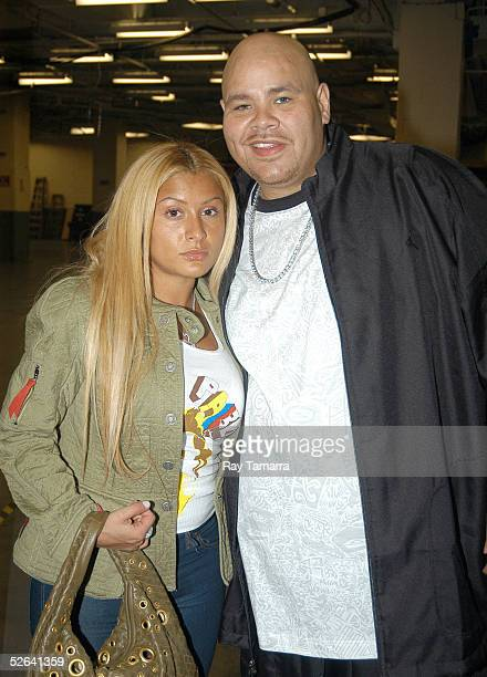Recording group Terror Squad's Fat Joe and his wife Lorena Cartegena during the Jordan Classic at Madison Square Garden April 16 2005 in New York City