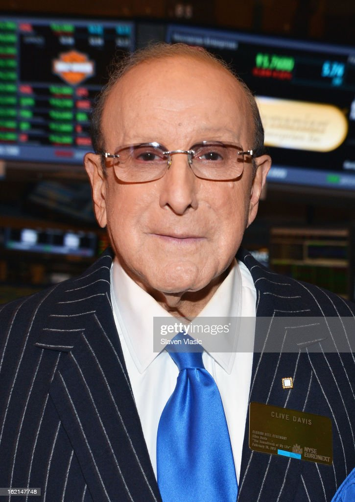 Clive Davis Rings The NYSE Closing Bell