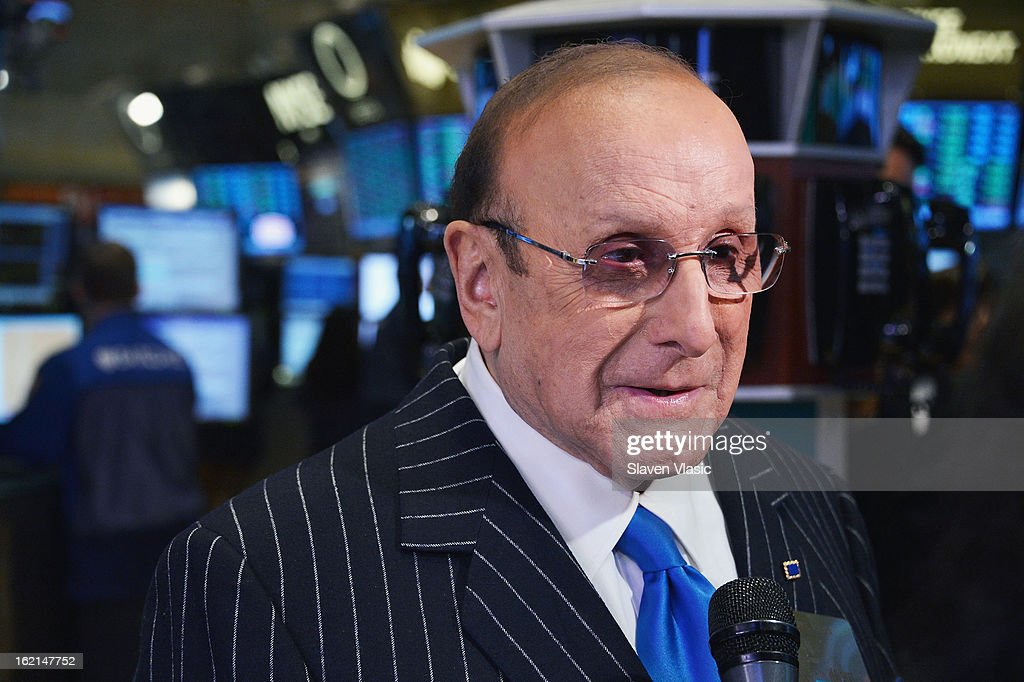 Recording industry mogul and author Clive Davis visits the trading floor at New York Stock Exchange on February 19, 2013 in New York City.