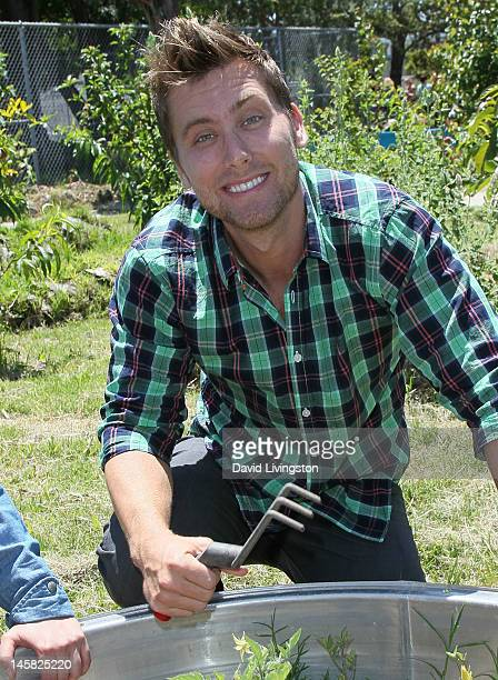 Recording Lance Bass attends the Environmental Media Association's 3rd Annual Garden Luncheon at Carson Senior High School on June 6 2012 in Carson...