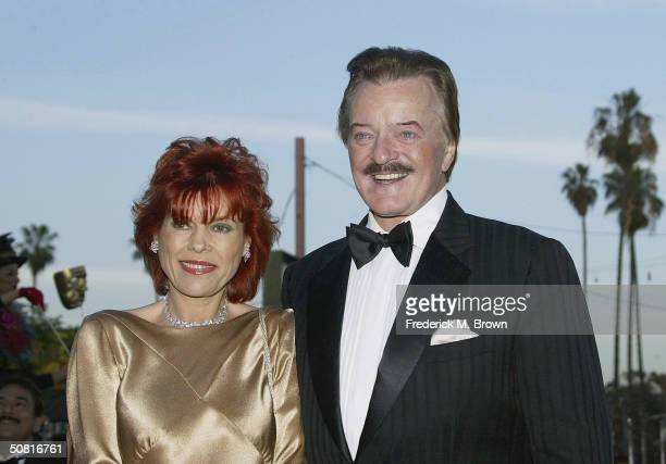 Recording Robert Goulet and his wife attend the Unveiling and Gala Inauguration of the Ricardo Montalban Theatre on May 8 2004 in Hollywood California