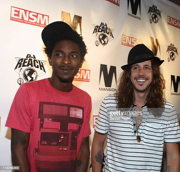 Recording Shwayze and Cisco Adler attend DJ Reach's Birthday Party at Mansion on August 19 2008 in New York City