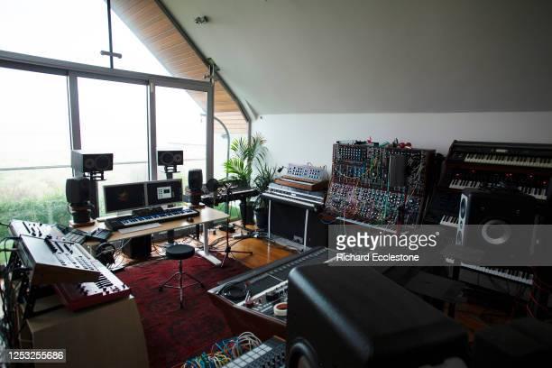 Recording studio belonging to Matador, Irish DJ and multi-instrumentalist, 2019.
