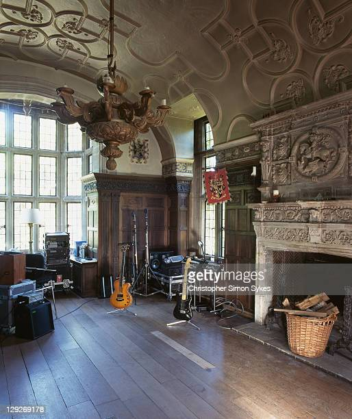 A recording studio in the home of English musician and singer Sting and his wife Trudie Styler Lake House Wiltshire circa 2007