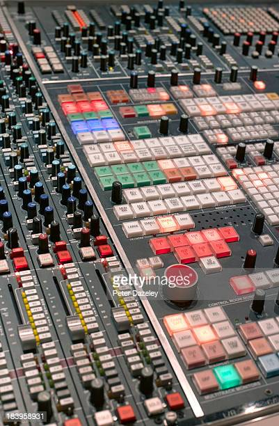 Recording studio mixing desk upright