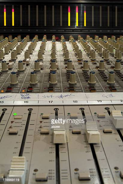 Recording studio sound desk