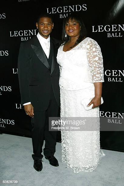 Recording Usher and his mother attend Oprah Winfrey's Legends Ball at the Bacara Resort and Spa on May 14 2005 in Santa Barbara California