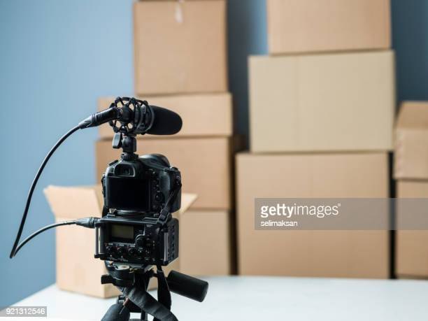 Recording Video Of Unboxing Items For Video Blogging