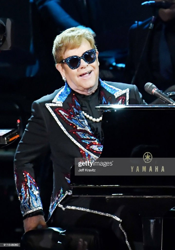 Recordiong artist Elton John performs onstage during the 60th Annual GRAMMY Awards at Madison Square Garden on January 28, 2018 in New York City.