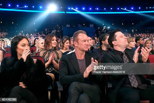 Recordng artist Sting during the 2016 American Music Awards at Microsoft Theater on November 20 2016 in Los Angeles California