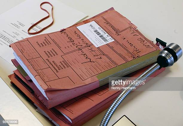 Records are pictured at the county court of Hildesheim on November 2009 in Hildesheim Germany In 2004 Ernst August of Hannover was convicted in...