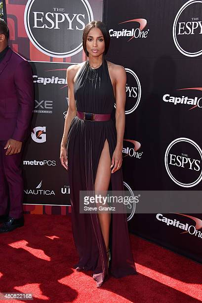 Recoring artist Ciara attends The 2015 ESPYS at Microsoft Theater on July 15 2015 in Los Angeles California