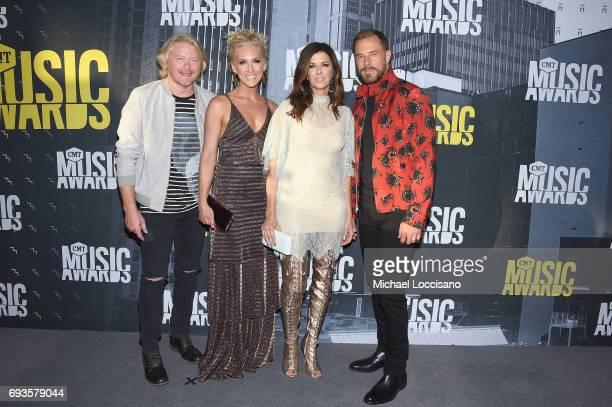 Recoring Artists Philip Sweet Kimberly Schlapman Karen Fairchild and Jimi Westbrook of Little Big Town attend the 2017 CMT Music Awards at the Music...
