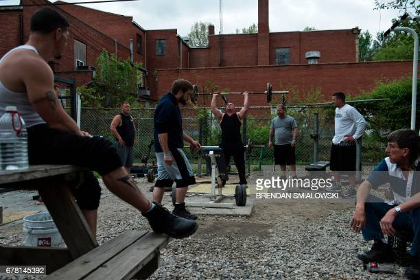 Recovering addicts enjoy free time at Recovery Point on April 19 2017 in Huntington West Virginia Huntington the city in the northwest corner of West...