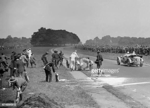 Recovering George Eyston's firedamaged Bugatti T43 Irish Grand Prix Phoenix Park Dublin 1929 Artist Bill Brunell