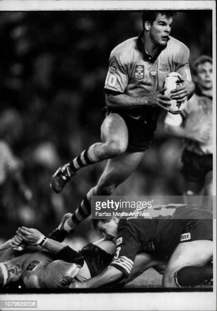 Recovering Ian Roberts is not expected to miss any football despite a knee injuryNSW Vs Queensland Rugby League Pixs taken at the 2nd state of Origin...