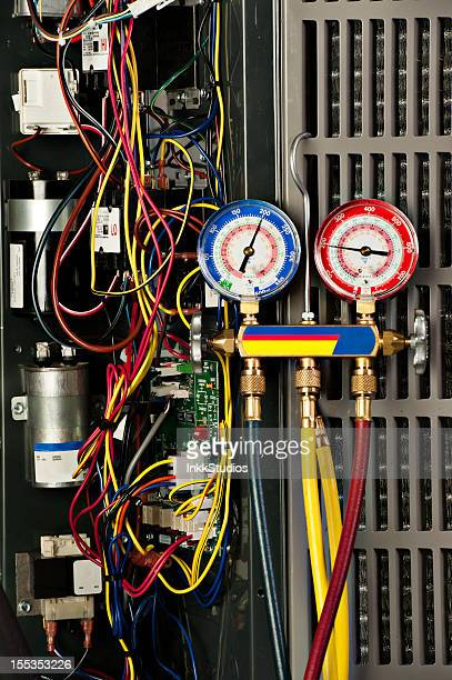 Recovering Refrigerant from Air Conditioner a home AC unit