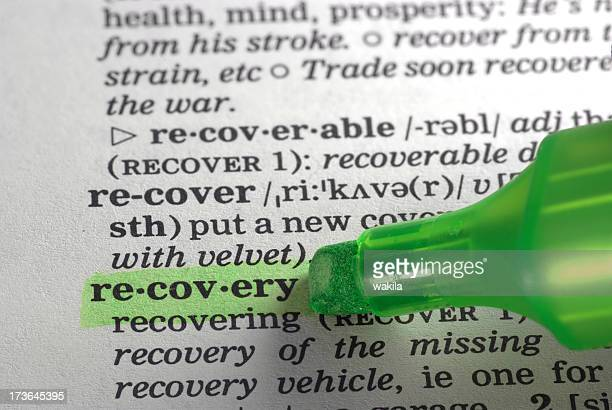 recovery defintion highlighted in dictionary