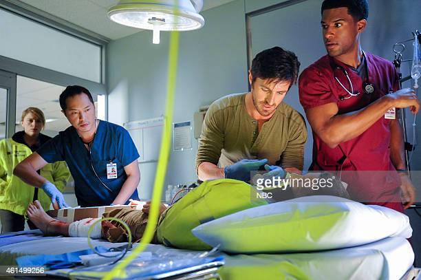 SHIFT 'Recovery' Episode 201 Pictured Ken Leung as Topher Zia Eoin Macken as TC Callahan JR Lemon as Kenny Fournette