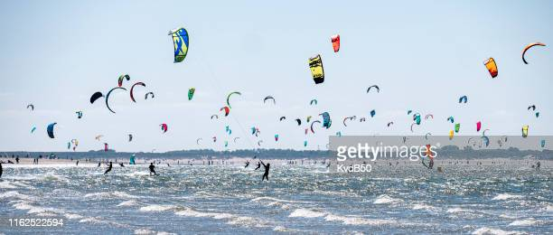 recreation at the brouwersdam - zeeland stock pictures, royalty-free photos & images