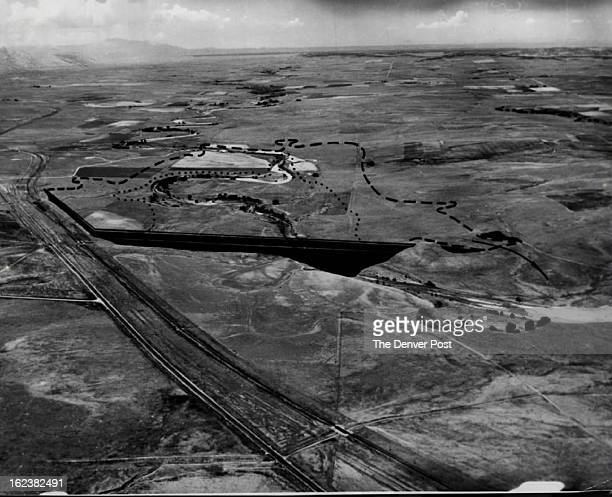 AUG 13 1962 Recreation Flood Control Area Near Ramah This aerial photo shows how area near Ramah Colo will be utilized when new Ramah Dam is...