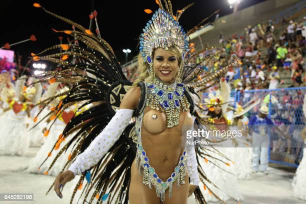 Recreation Guild School of Samba Academics of Sossego Opening Carnival Rio 2017 on February 24 2017 in Rio de Janeiro Brazil