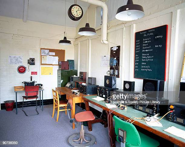 Recreation of a radio intercept room using HRO receivers at Bletchley Park Buckinghamshire Bletchley Park was the British forces' intelligence centre...