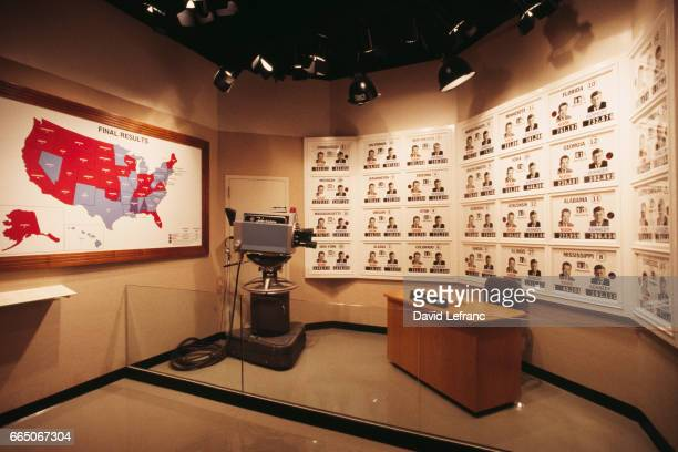 Re-creation of the CBS television set during the presidential election results of the November 8, 1960 elections.