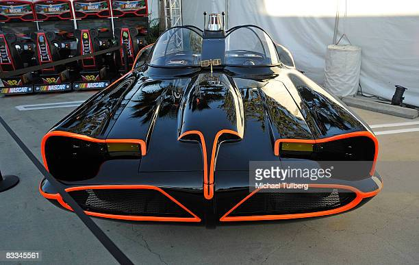 Recreation of the famous Batmobile for the 1960's Batman TV show on display at the benefit grand opening of celebrity vehicle customization shop...