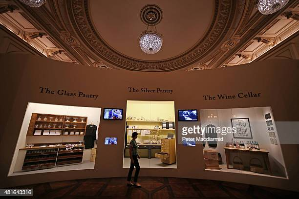 A recreation of the Palace kitchens are shown at The Royal Welcome Summer opening exhibition at Buckingham Palace on July 23 2015 in London England...