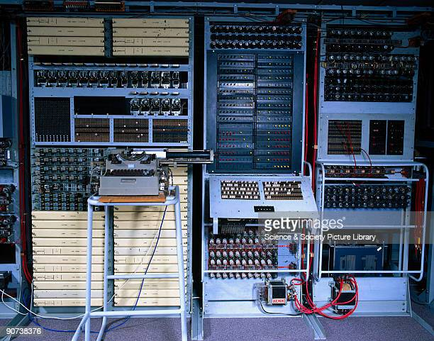 Recreation showing the control panel and circuitry of the 'Colossus' computer at Bletchley Park in Buckinghamshire Bletchley Park was the British...